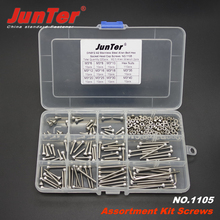 220pcs M3 (3mm) A2 Stainless Steel DIN912 Allen Bolts Hex Socket Head Cap Screws Allen Wrench With Nuts Assortment Kit NO.1105