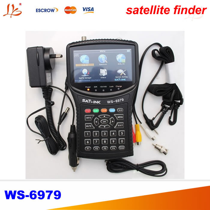 Satlink WS-6979 DVB-S2 & DVB-T2 Combo digital satellite finder meter anewkodi original satlink ws 6906 3 5 dvb s fta digital satellite meter satellite finder ws 6906 satlink ws6906