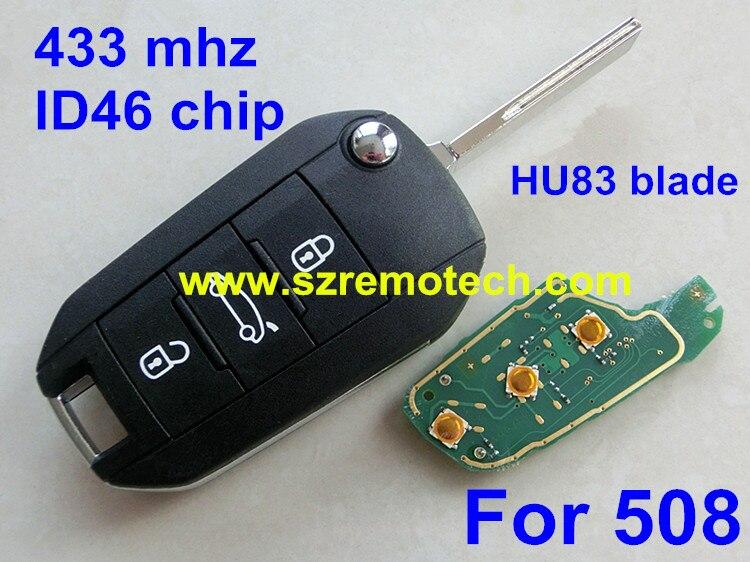 Envío Libre Nuevo Control Remoto Clave 3 Botón 433 MHz ID46 Chip Electrónico int