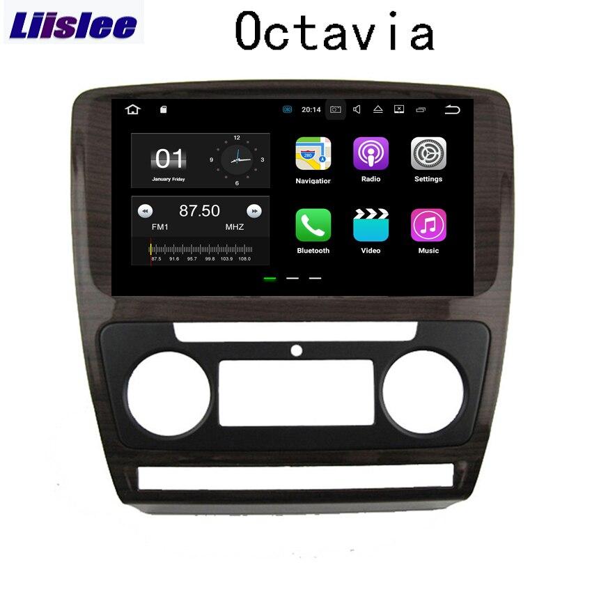 Liislee Android pour VW pour Skoda Octavia 2010 ~ 2014 Navigation de voiture GPS Audio vidéo HD écran tactile lecteur multimédia pas de CD DVD.