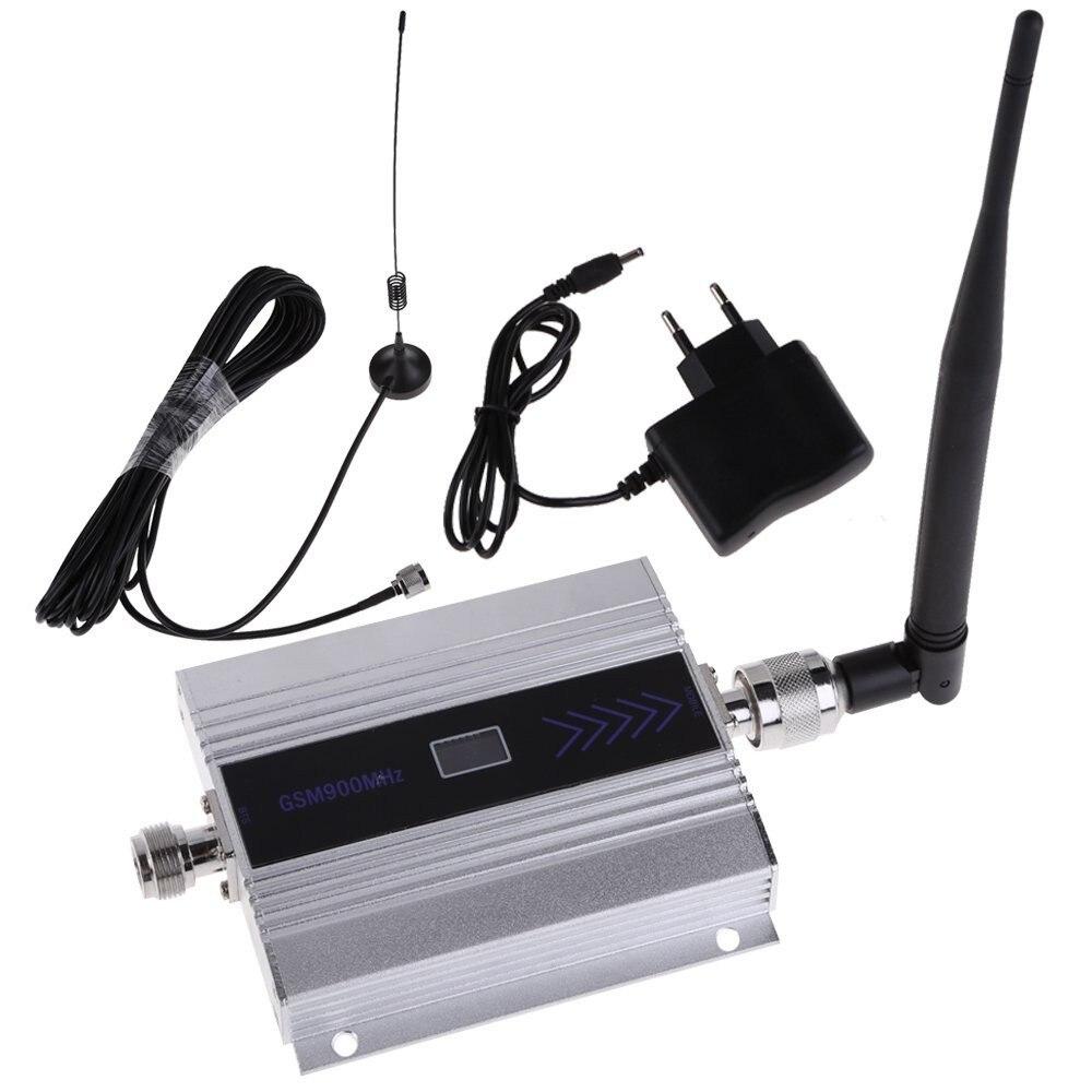 Écran lcd! gsm répéteur 900 mhz gsm 900 signal booster, signal de téléphone cellulaire booster répéteur amplificateur + antenne Ventouse