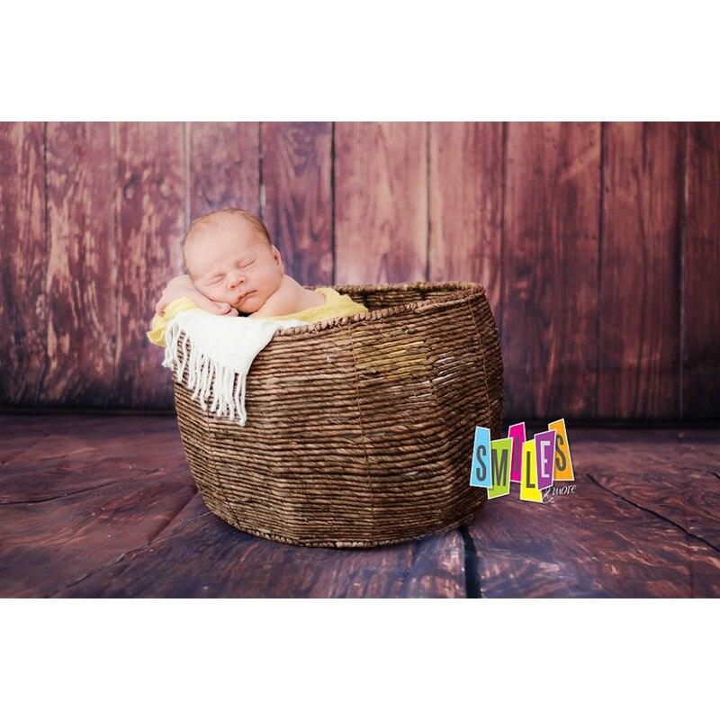 5X7ft Wooden Board Baggrund Børn Baby Fotografi Baggrund Vinyl - Kamera og foto - Foto 2