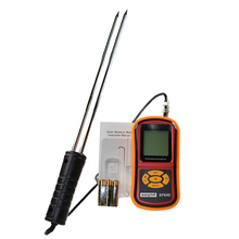 Digital Grain Moisture Meter with Measuring Probe Portable LCD Hygrometer Humidity Tester for Corn Wheat Rice Bean Wheat