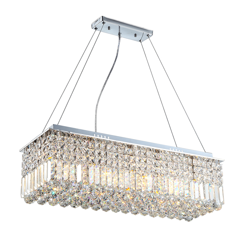 Long Size Rectangle Crystal Pendant Light Fitting Crystal chandelier ceiling suspension lamp for dining room, bedroom, meetin european crystal chandelier lights pendant lamp for dining room bedroom cloakroom stairs