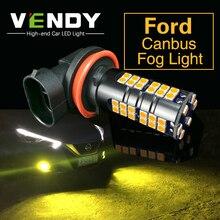 цена на 2x H8 H11 9006 HB4 H10 LED Fog Light Bulb Lamp For Ford Focus 2 3 Fiesta Mondeo Ecosport Kuga Fiesta Fusion Edge Escape Explorer