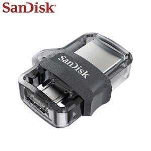 Image 3 - SanDisk OTG USB 플래시 드라이브 DD3 USB 미니 플래시 드라이브 고속 16 기가 바이트 32 기가 바이트 64 기가 바이트 128 기가 바이트 펜 드라이브 메모리 마이크로 USB 스틱 USB 3.0