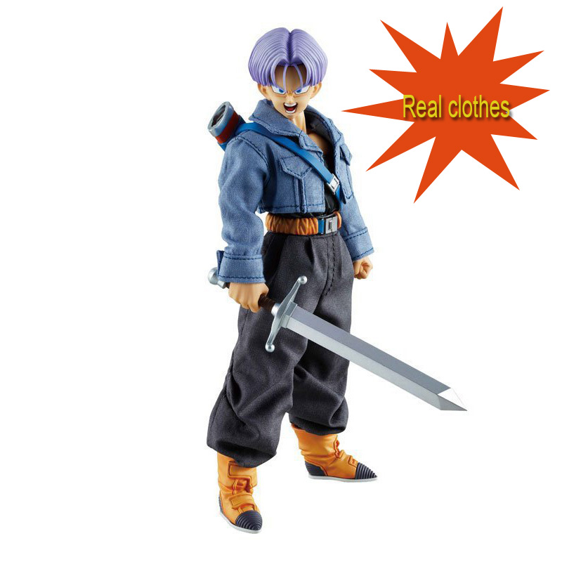 ФОТО 19CM Future Soldier Torankusu Anime Figure Real Clothes Dragong Ball Action Toy Figures PVC Doll Kids Toys Boys Birthday Gift