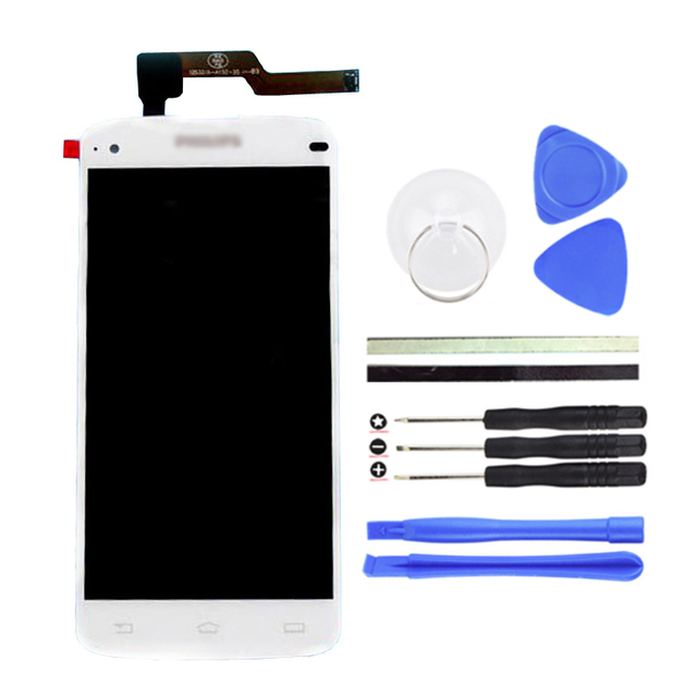 100% LCD Screen I908 LCD Display + Digitizer Touch Screen Replacement For Philips I908 Cell Phone Parts White + tools