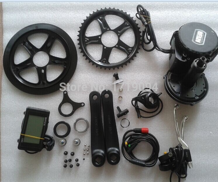 все цены на 2016 brand new 36V 500W 8fun/bafang C961 motor BBS02 crank Motor eletric bicycles trike ebike kits for fat tire bike