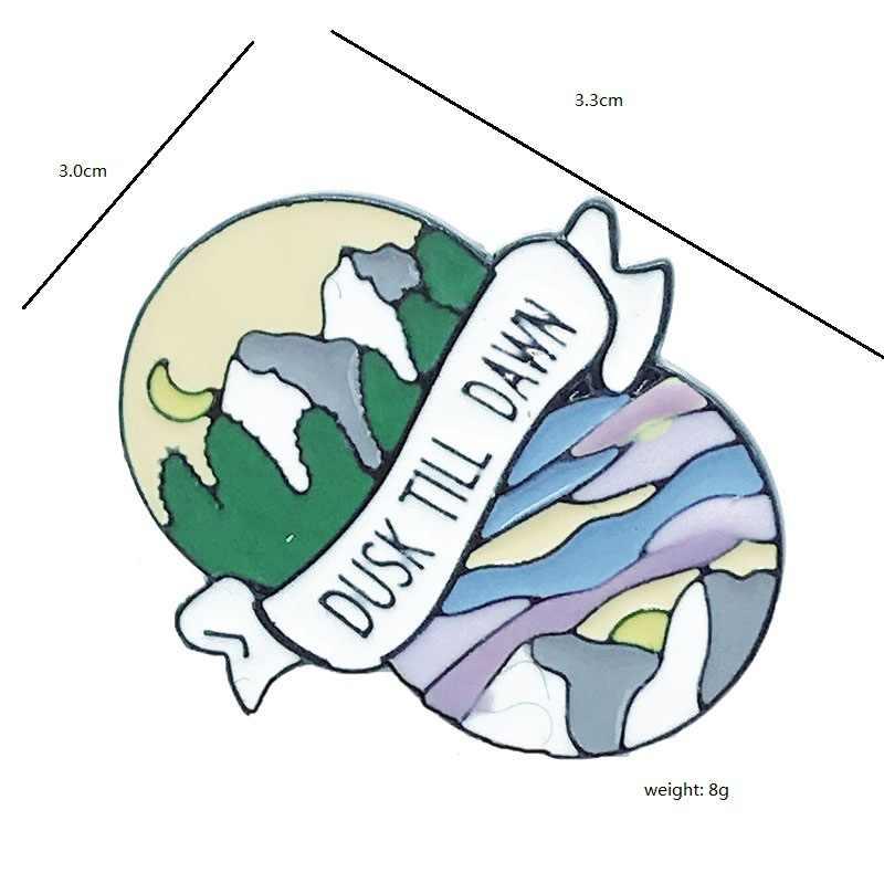 Creative Without You I Feel Lost At Sea เข็มกลัดสำหรับผู้หญิงคนรักเคลือบ Pin Dusk Till Dawn Pins Drifting badge เครื่องประดับ