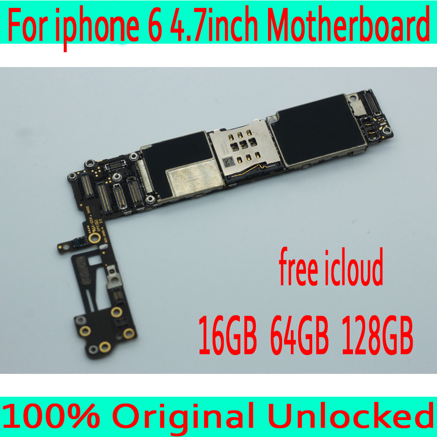 16GB 64GB 128GB Free iCloud for iphone 6 Motherboard without Touch ID,Original unlocked for iphone 6 Mainboard with Full Chips-in Mobile Phone Antenna from Cellphones & Telecommunications