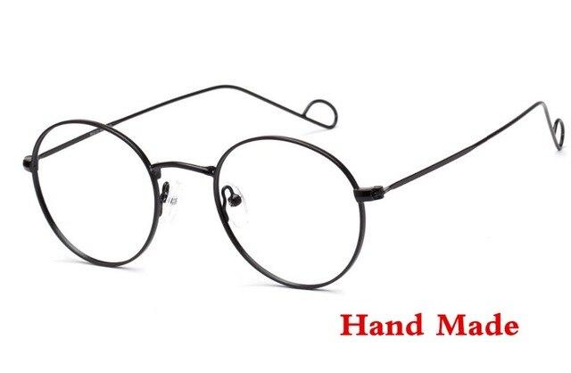 b9f80e40c5 Hand Made Japanese Art Retro Glasses Frame Women Ultralight Metal Gold  Harry Potter Glasses Men Round Eyeglasses Lunette de vue