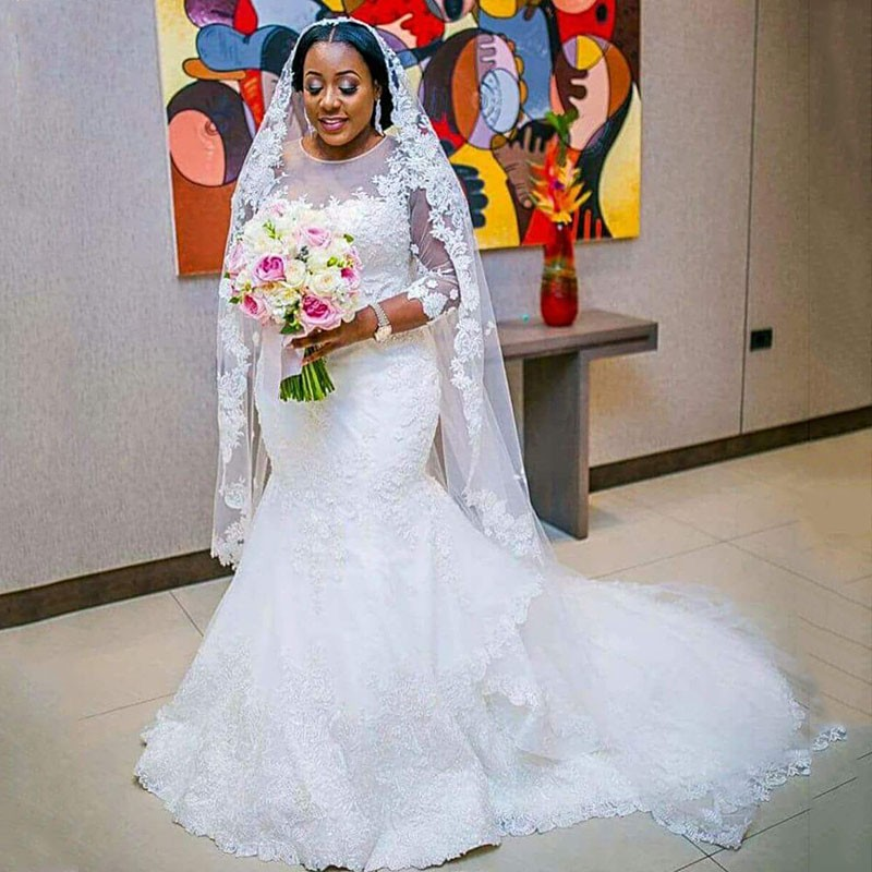 SHJ078 Africa Wedding Dress 2019 Vestido de Noiva Simple Arabic Wedding Gowns Bridal Dress Robe De Mariee