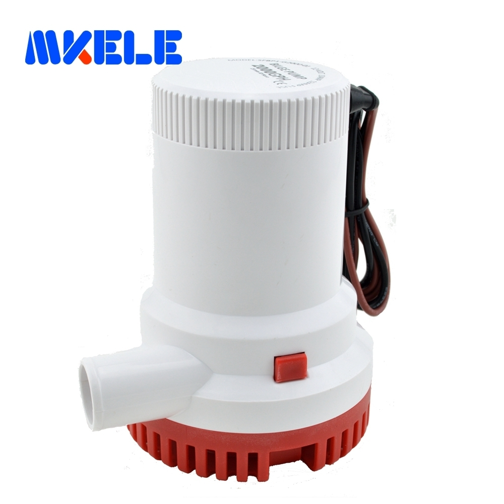 MKBP-G2000 12/24 2000GPH 3m3/h DC Submersible water Bilge pump for Fountain garden irrigation swimming pool cleaning farming mkbp g750 24 24v 750gph bilge pump small dc submersible water pump for fountain garden irrigation swimming pool cleaning farming