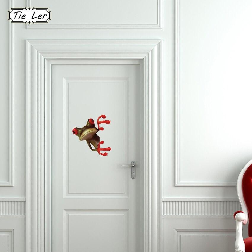 Забавный яркий 3D Лягушка настенное Стикеры Ванная комната туалет декоративные наклейки смешные Животные декора Плакат ПВХ росписи Книги п...