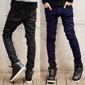 Новая акция мужская брюки джинсы/мода Джинсовые брюки мужские брюки/высокое качество черный/синий Размер M L XL