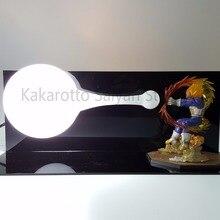 Dragon Ball Z Вегета Супер Саян Фигурки DIY Камехамеха Аниме Dragon Ball GT Цифры Коллекционная Модель Игрушки DBZ + лампы + База
