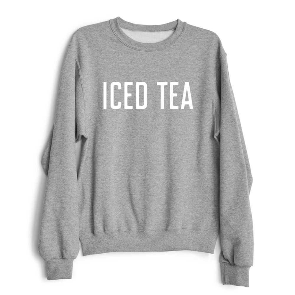 Iced Tea Funny Black White Grey Crewneck Sweatshirts Women -5886