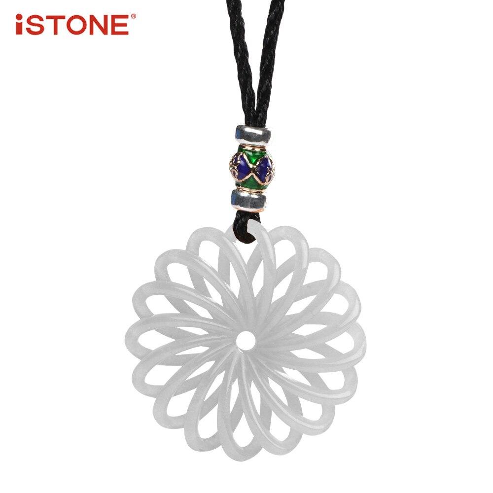 Istone Природный камень кулон 3D ручной авантюрин халцедон нефрита кварц Подвеска Цепочки и ожерелья Fine Jewelry подарок для женщины
