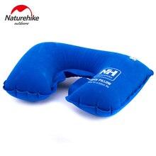 NatureHike U-Shaped Inflatable Flocking Fabric Neck Pillow