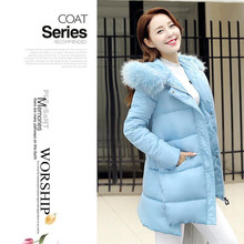 2016 new high-quality women warm winter jacket fashion solid color coat long paragraph Slim thick coat jacket women