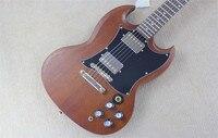 Wholesale Firehawk Custom Shop LP Mahagany Body SG Standard Brown Electric Guitar Chrome Hardware