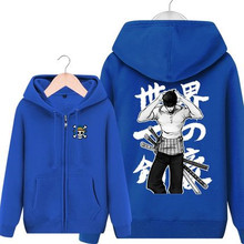 Anime One Piece Roronoa Zoro Hoodies Autumn Winter Pullovers