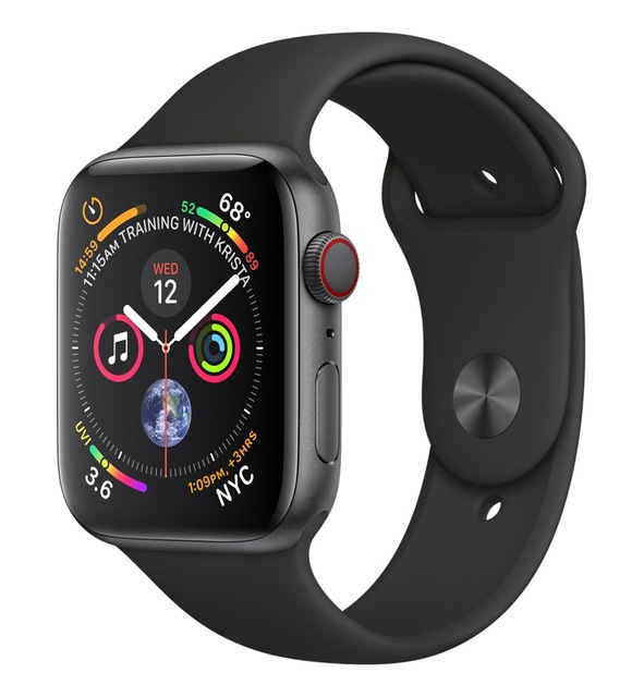 Apple Watch Watch Series 4, OLED, Touchscreen, GPS (satellite), Mobile, 36.7 g, Black