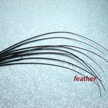 100 шт/партия 35-40 см черный страусиный перо жесткий стержень головной убор и шляпа аксессуары