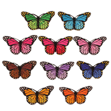 10 Embroidery Butterfly Sew On Patch Badge Embroidered Fabric Applique DIY butterfly embroidered applique tee