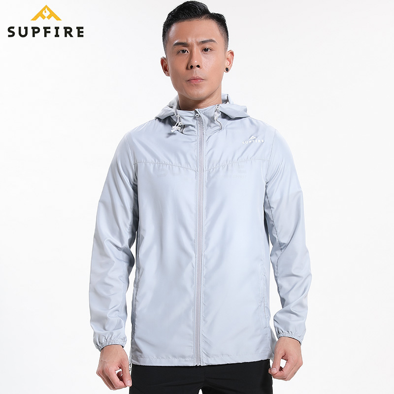 Men Sunscreen Wind Coat Running Cycling Fishing Jackets Supfire Windproof Ultraviolet proof Sports Long Sleeve Jerseys C015 in Running Jackets from Sports Entertainment