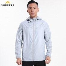 Men Sunscreen Wind Coat Running Cycling Fishing Jackets Supfire Windproof Ultraviolet-proof Sports Long Sleeve Jerseys C015