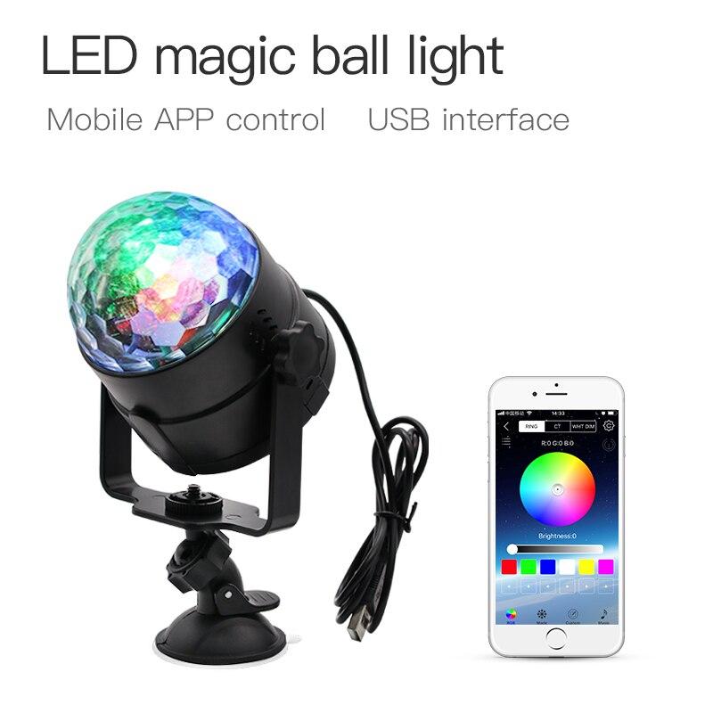 ZHONGJI 5V RGB LED Disco Light For Home Sound Partys Disco Lamp For Car USB Rotating Home Party Decoration DJ Disco Ball Light
