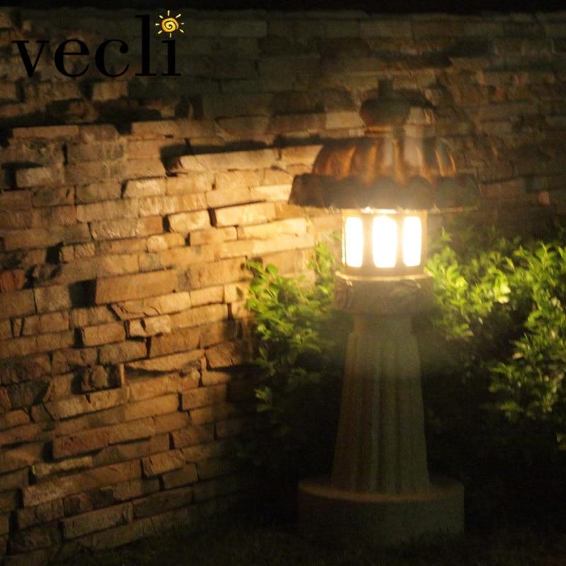 criativo jardim lampada do gramado imitacao pedra 01