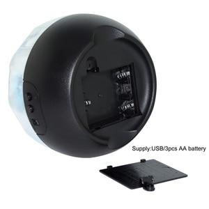 Image 3 - שמי זרועי הכוכבים כדור הארץ סובב מקרן LED לילה אור USB AA סוללה מופעל LED לילה מנורת חידוש תינוק אור עבור חג המולד מתנה