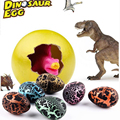 5pcs/lot Dinosaur Eggs Jurassic Park Classical Dinosaur Toy Model Water Egg Educational Toys Egg Hatching Growing