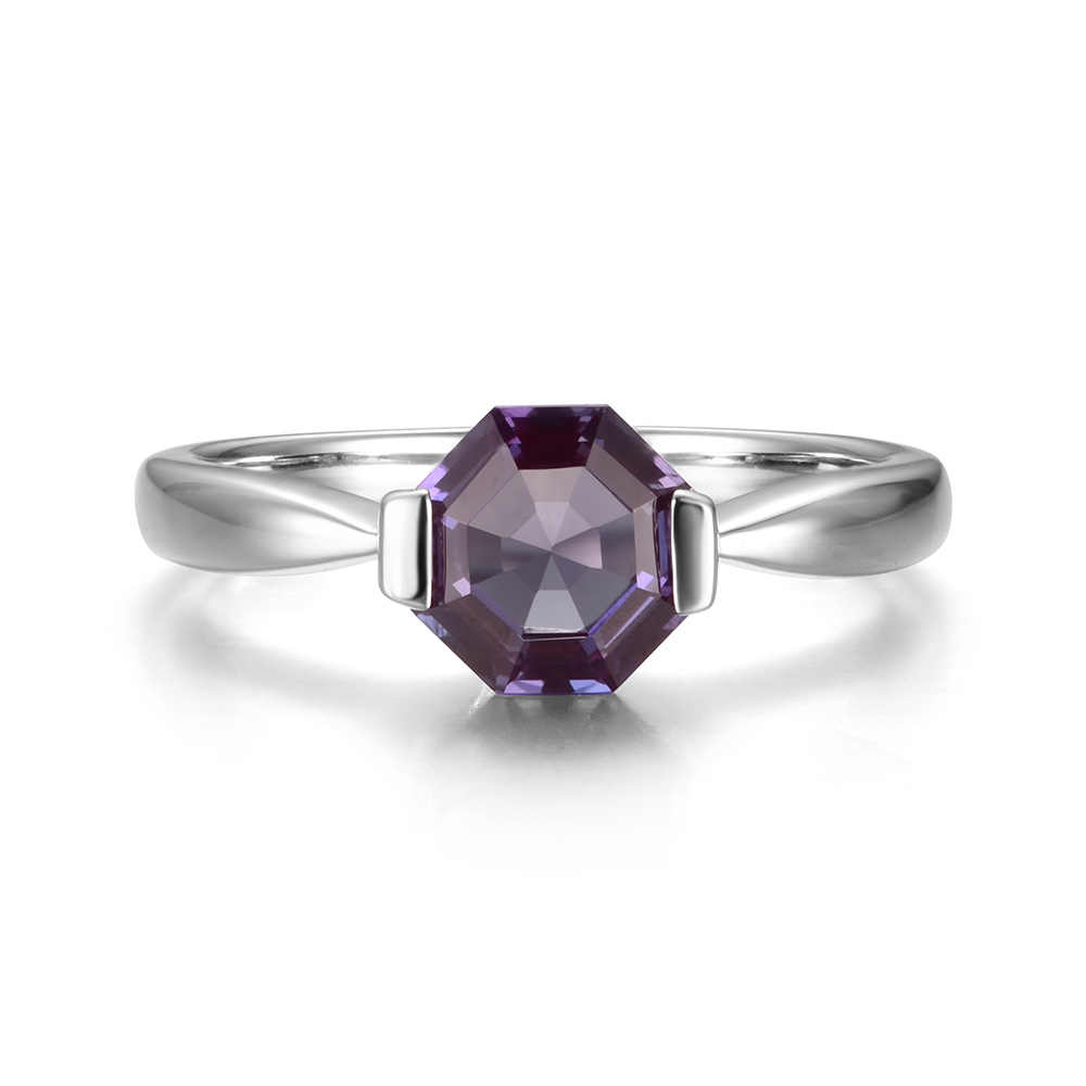2f269346d4 Leige Jewelry Lab Created Alexandrite Gem 925 Sterling Silver June  Birthstone Octagon Cut Party Solitaire Ring For Woman