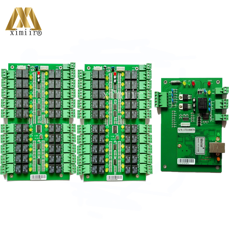 Free Shipping TCP/IP 40 Floors Biometric Fingerprint And RFID card Elevator Access Control Board Lift Controller System
