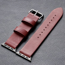 38mm 42mm Leather Apple Watch Strap Red High Quality watch Band for Apple Smart Watches