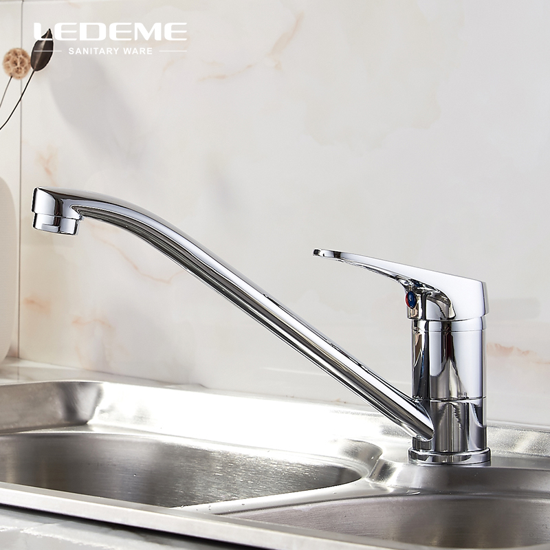 LEDEME Simple Low Price Kitchen Basin Faucet Single-Handle Bar Water Tap Mixer Crane For Kitchen L4913 low price 2 t thickening folding car small crane engine hanger hanging manual hydraulic crane jack for sale