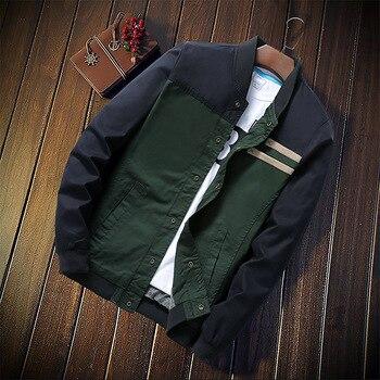New Men's Jackets Autumn Military Men's Coats Fashion Slim Casual Jackets 1