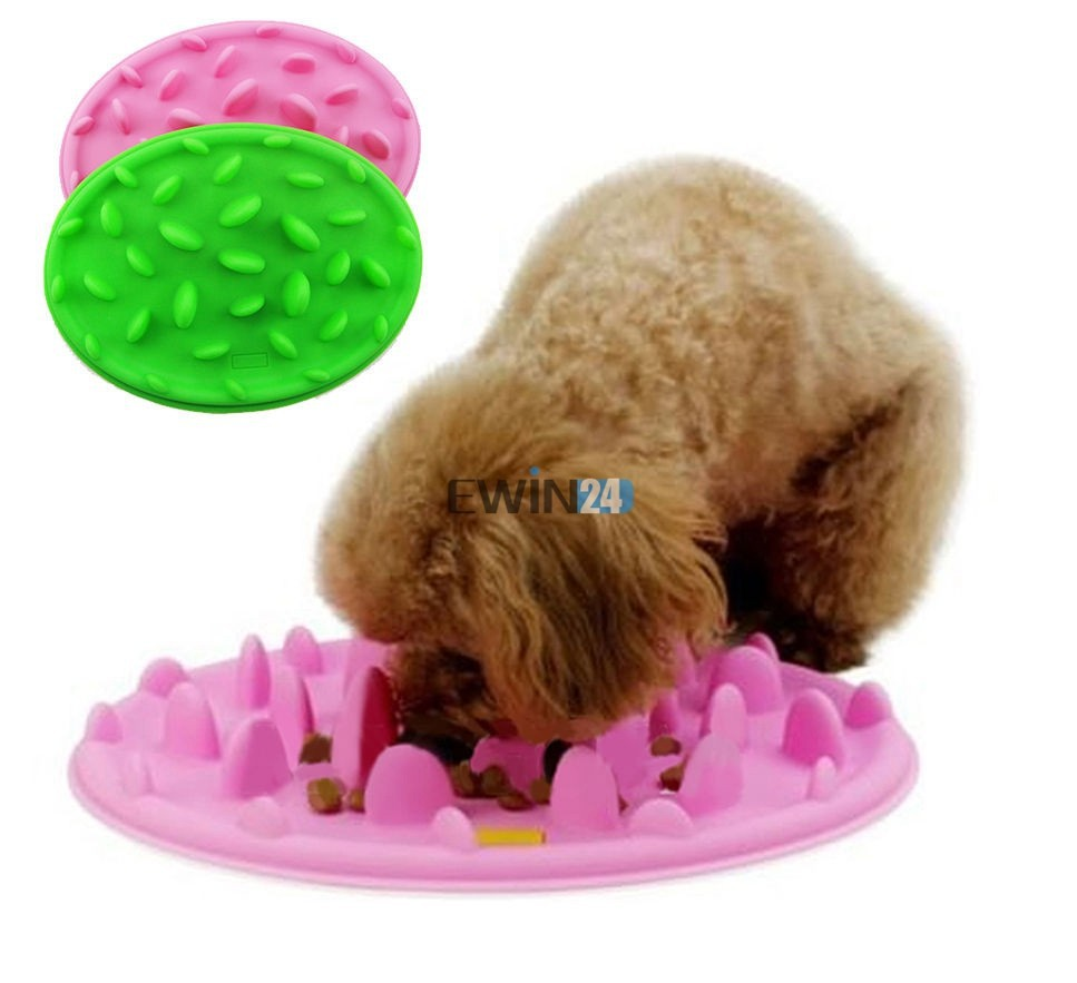 Green Interactive Slow Feeder for Dogs ~ Dog Food Bowl - No Gulp Slow Feeder (7)