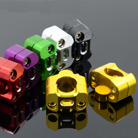 1 Pair 5 Color CNC Aluminum Motorcycle Bar Clamps Handlebar Bar Risers Universal For 28MM 1