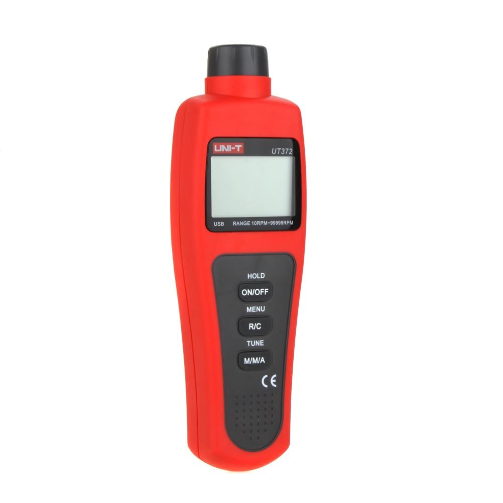 UT372 New LCD Display Digital USB Interface Range 10RPM-99999RPM Non-Contact Digital Tachometers