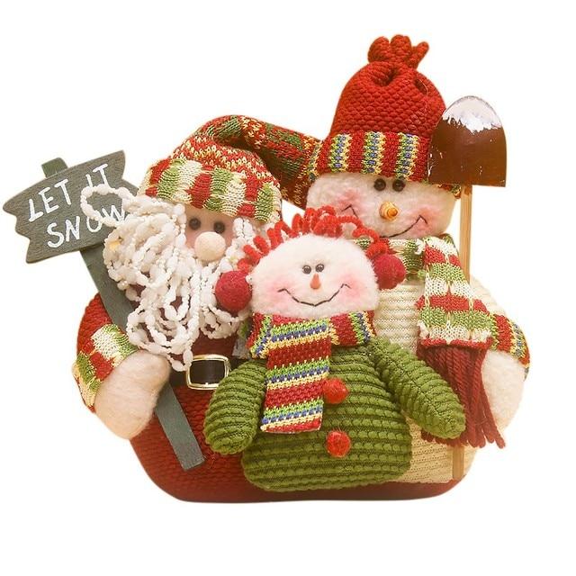 2017 new christmas doll decorations santa claus family pop christmas ornaments big christmas gift festival party - Big Christmas Ornaments