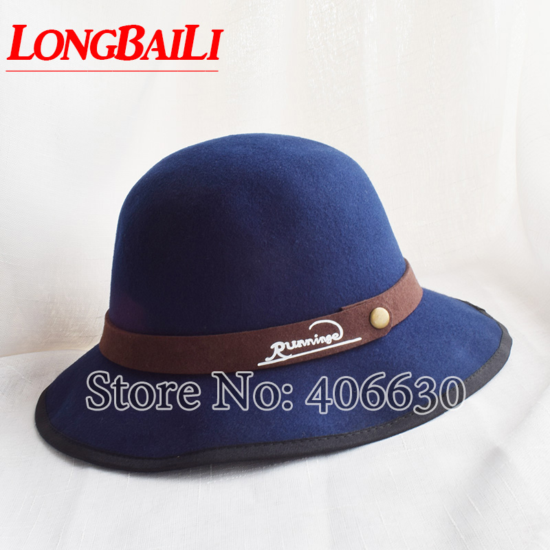 20f00ce8338 LongBaiLi New Women Fashion Wool Fedora Hats Chapeu Feminino Men Winter  Felt Hats Free shipping SDDW040