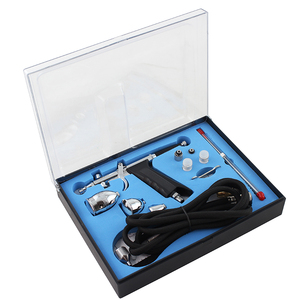 Image 4 - OPHIR Dual Action&Single Action Airbrush Kit with Tank Air Compressor Air Brush Gun for Model Hobby Nail Art_AC090+004A+071+069
