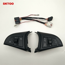 SKTOO For Chevrolet Cruze 2009-2014 Cruise switch multifunction steering wheel switch the volume button switch Bluetooth sktoo lowest price car auto rear trunk assembly license plate lamp light switch button for chevrolet cruze