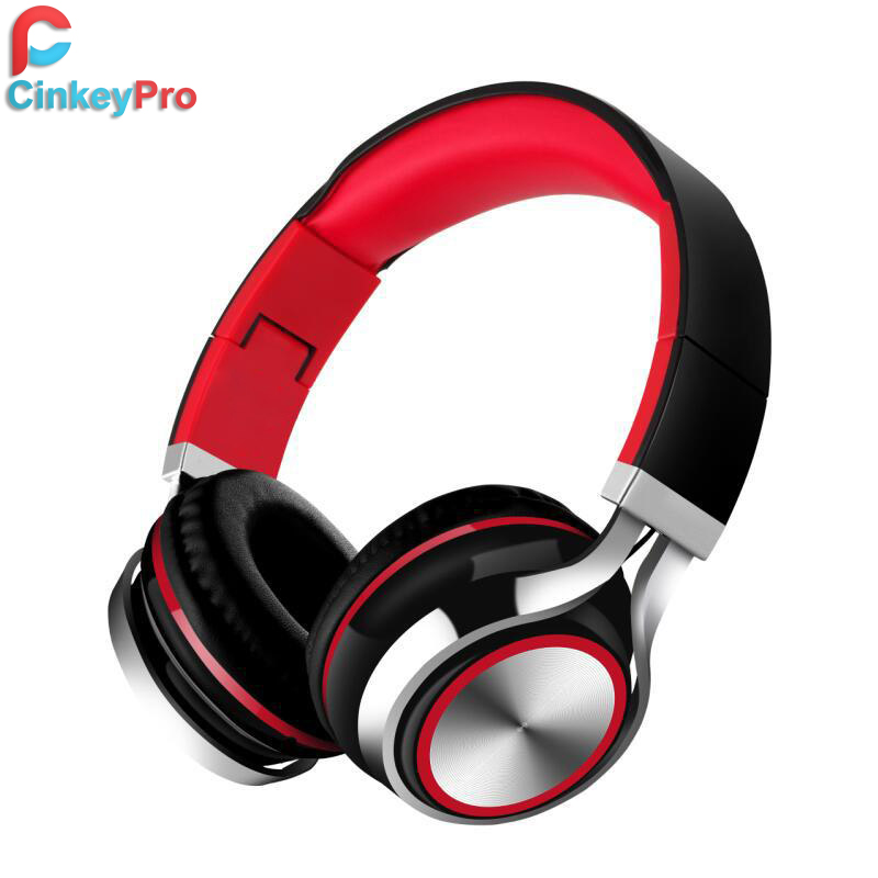CinkeyPro Headphones with Microphone Mobile Phone Foldable Earphone Stereo Headphone Computer Gaming Headset For Apple XiaoMi