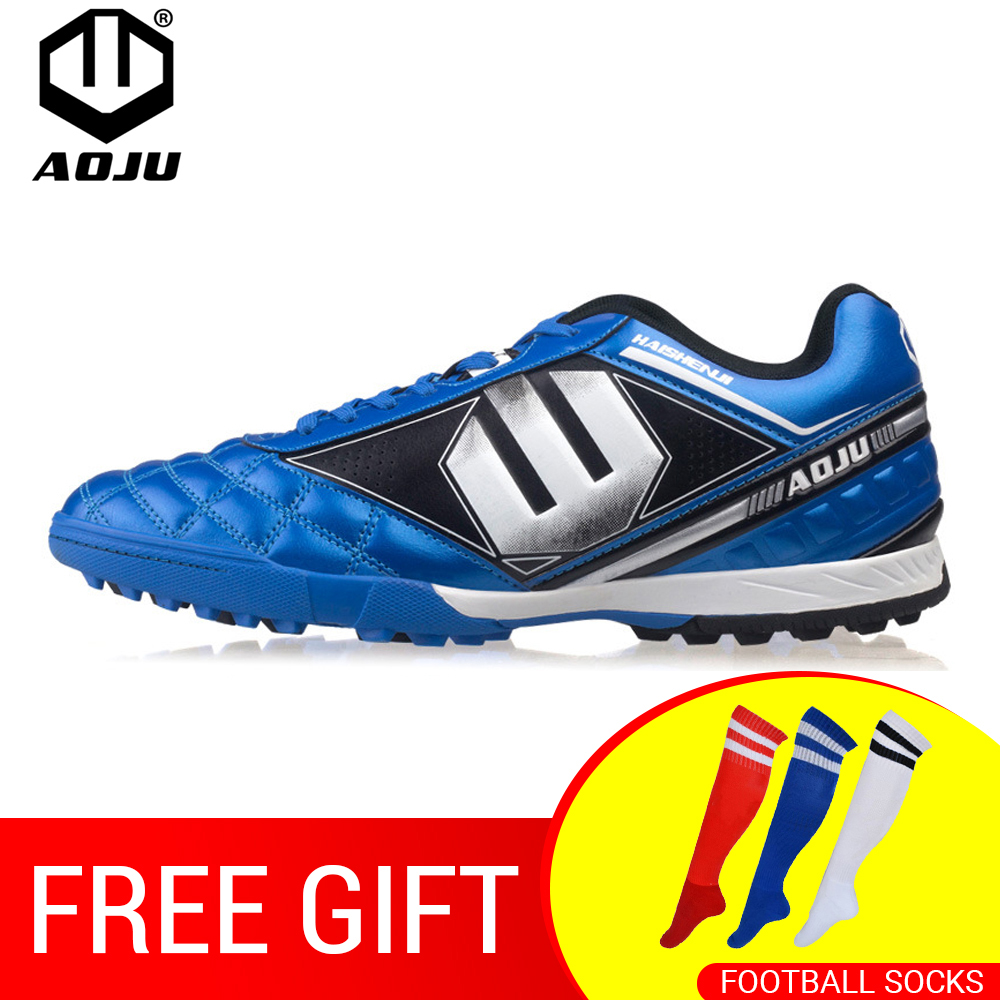 AOJU Brand Professional Soccer Football Shoes Men Women Outdoor TF Turf Soccer Cleats Athletic Trainers Sneakers Adults Boots цена